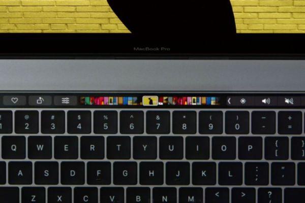 touchbar de la macbook pro