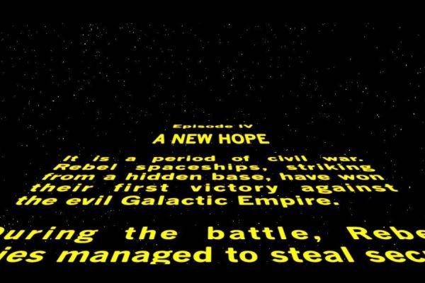 intro de Star Wars