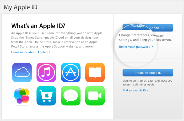 Olvide mi id de apple