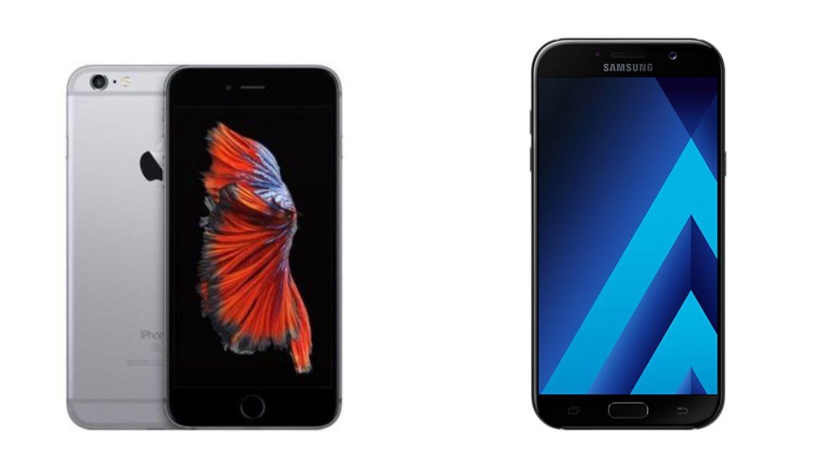 iPhone 6S o Galaxy A7 2017: ¿Cuál me conviene más?