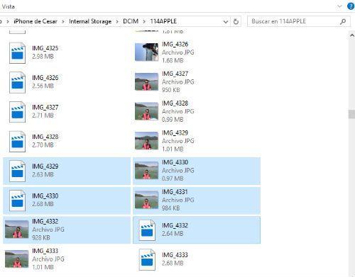 importar fotos de iphone a windows 10