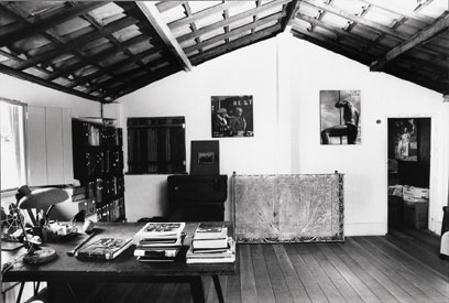 O quarto/escritório de Verger