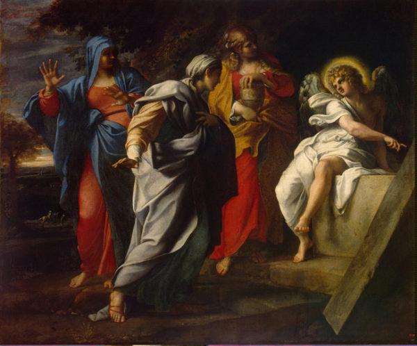 Santas mulheres na tumba de Jesus