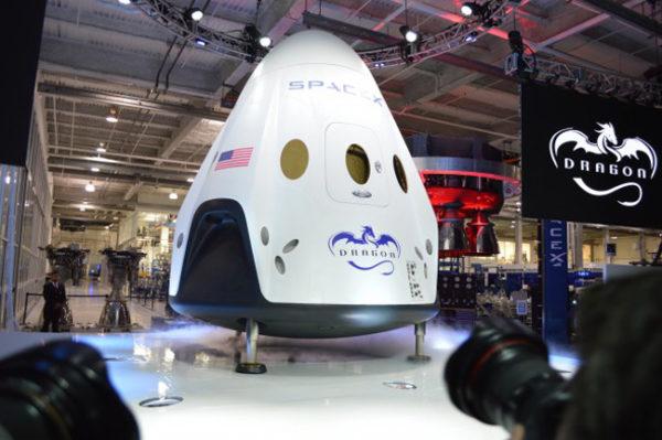A nave-cápsula, elemento essencial para o pouso em Marte.