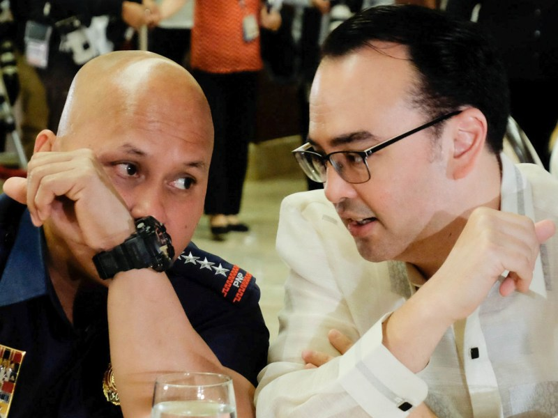 PNP chief Ronald 'Bato' Dela Rosa and Sen. Alan Peter Cayetano