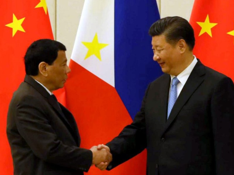 Philippine President Rodrigo Duterte and People's Republic of China President Xi Jinping