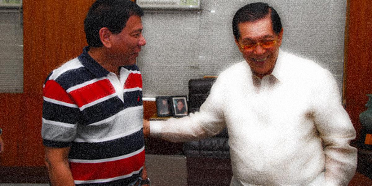Duterte and Enrile