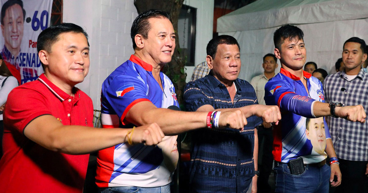 Bong Go, Philip Salvador, Rodrigo Duterte and Robin Padilla