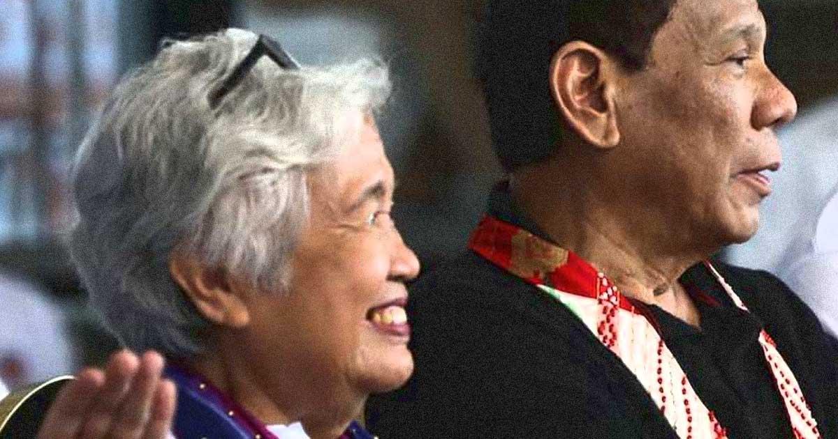 Leonor Briones and Rodrigo Duterte