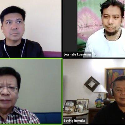 Mike Defensor, Journalie Payonan, Dante Marcoleta and Jesus Crispin Remulla