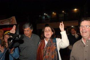 La intendenta Graciela Rosso, junto el titular de la CGT local, Oscar Lescano