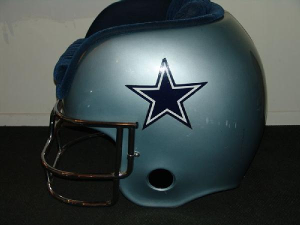 cowboys football helmet chair tracked power lujohns auctioneers item 1 dallas 36 wide x 34 high 41 deep