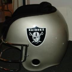 Oakland Raiders Chair Vintage Dining Room Chairs Lujohns Auctioneers Item 4 Football Helmet 36 Wide X 34 High 41 Deep