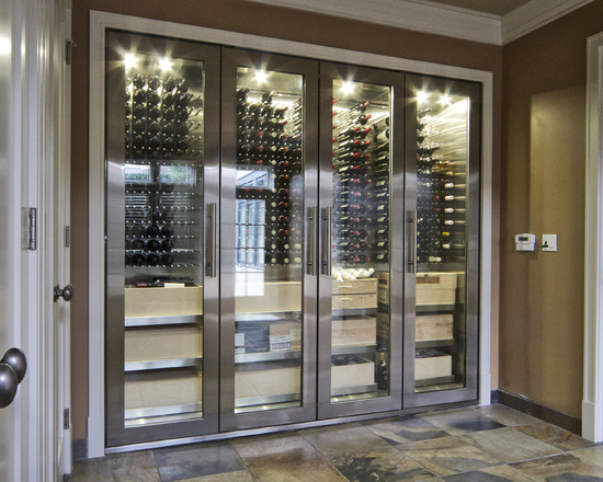 Modern Stainless Wine Cellar Cabinet (Vancouver)