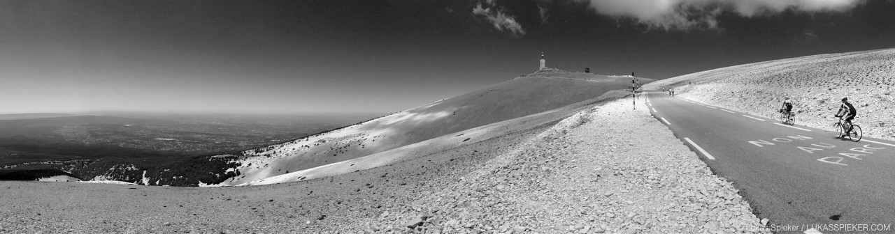 Mont Ventoux is a classic climb attracting loads of amateur cyclists from all over the world. Wind speeds as high as 320 km/h have been recorded at the summit. On the summit are a telecommunications mast, an observatory, and a meteorological station, the latter not being in use any more.