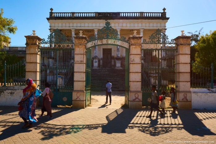 The hospital in Ilha de Moçambique once served as the colonial headquarter and was built in the 18th century.