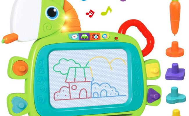 Lukat Toddler Magnetic Drawing Board With Sound Toys For 1