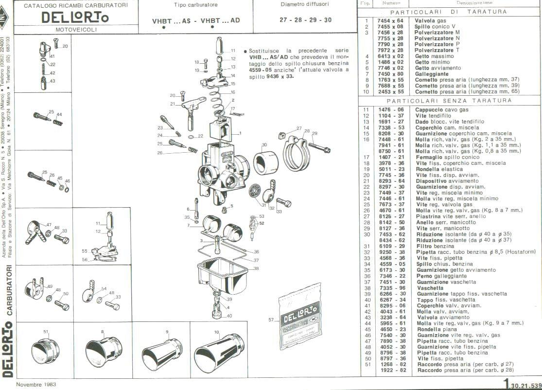 Revisione Carburatore Dell Orto Vhb 26 Bd Ed Il Vhb 29 Ad