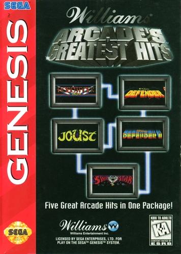Williams Arcades Greatest Hits Sega Genesis