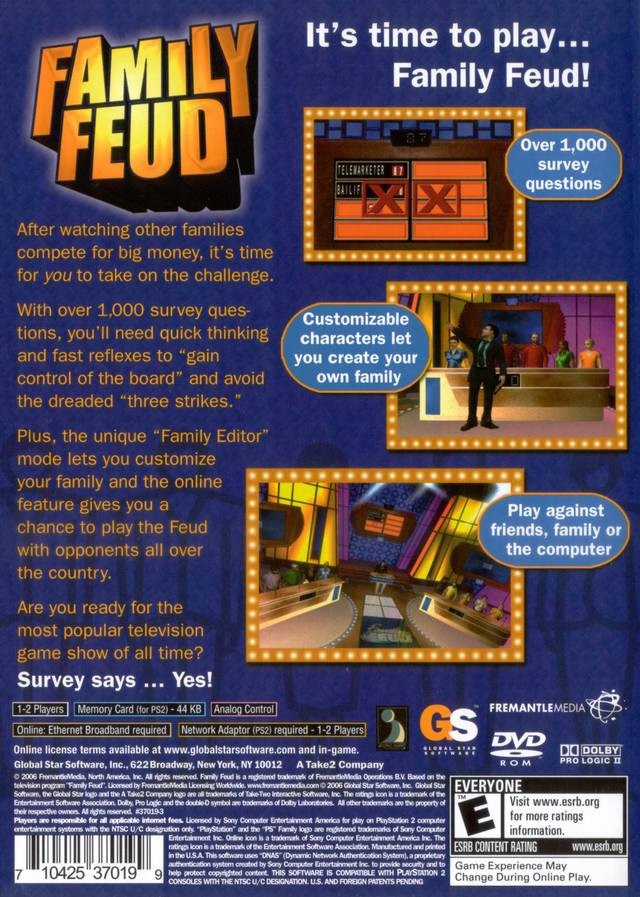 Family Feud Game Xbox 360