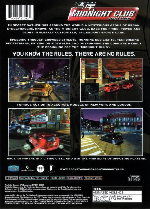 Midnight Club Street Racing Cars List