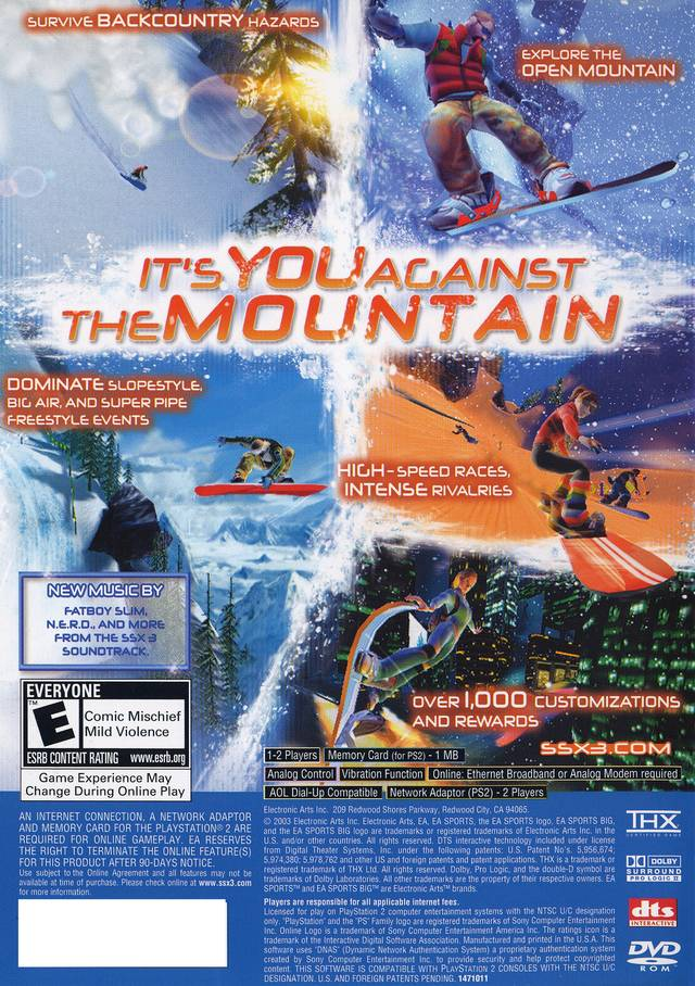 SSX 3 Sony Playstation 2 Game