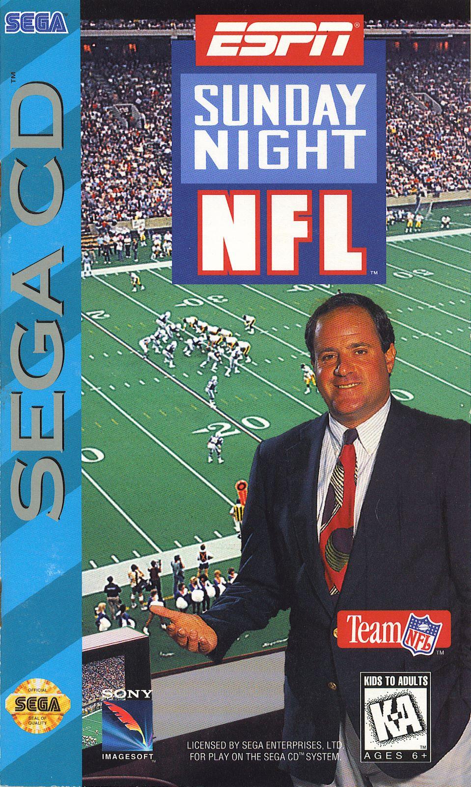 ESPN SUNDAY NIGHT NFL Sega CD Game