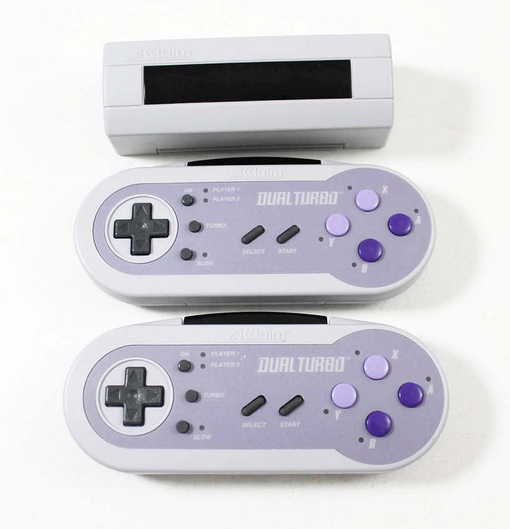 SNES Super Nintendo Acclaim Dual Turbo Wireless
