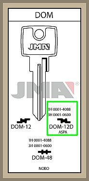 DOM- lisäavaimet koodin mukaan valmistettuna