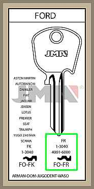 DOM-FR1-3040 sarjan avaimet
