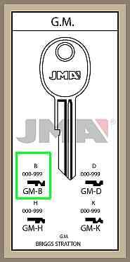 GM B lisäavain koodilla