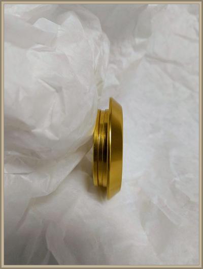 HOPPE umpikilpi pyöreä alumiini kulta.