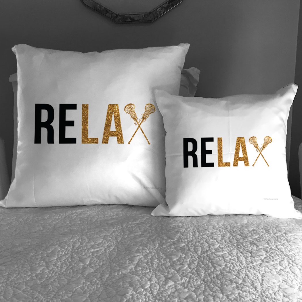 Girls Lacrosse Throw Pillow Relax  LuLaLax