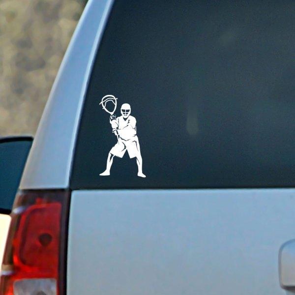 Lacrosse Vinyl Car Decal Goalie Silhouette ChalkTalkSPORTS