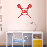 Lacrosse Crossed Sticks Female Removable LuLaGraphix Wall ...