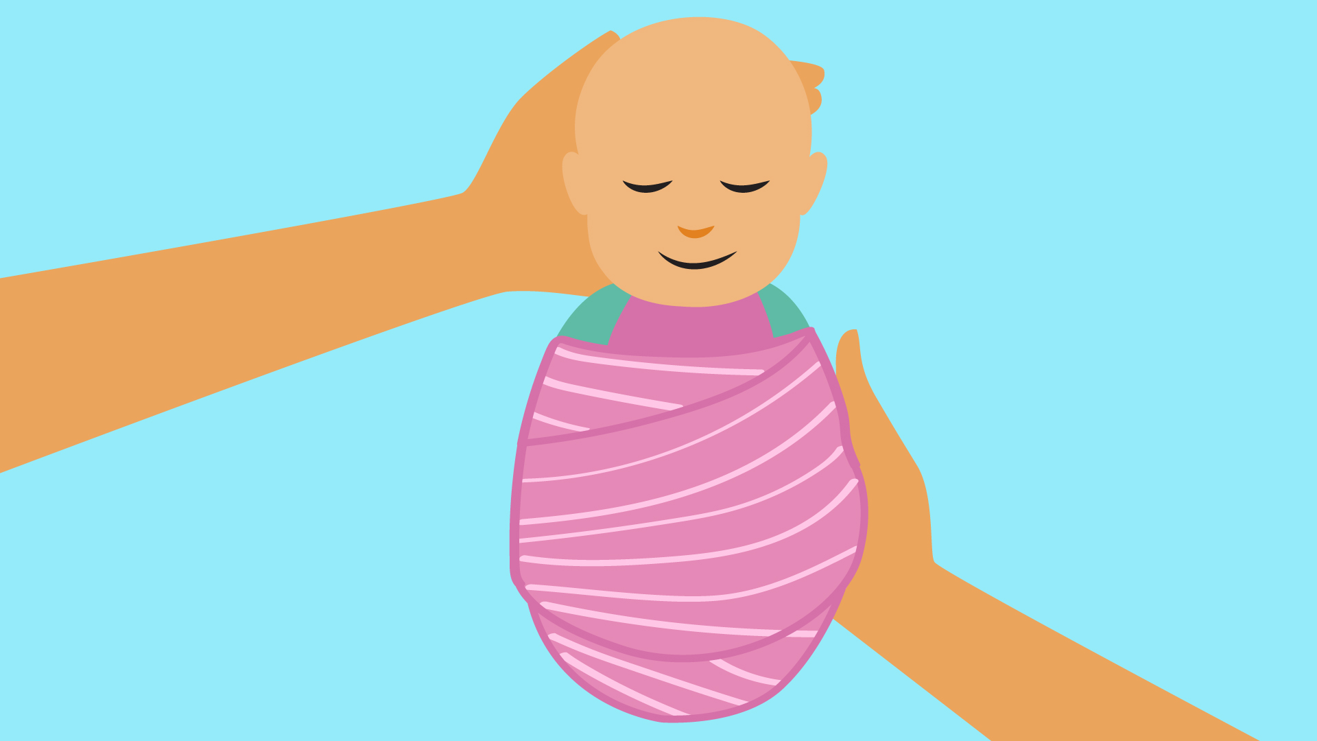 Swaddling your baby and using slings