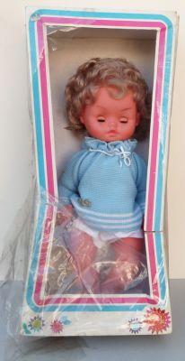 gege ref 1534 poupee 50 cm denis blond boucle 1974 neuve en boite
