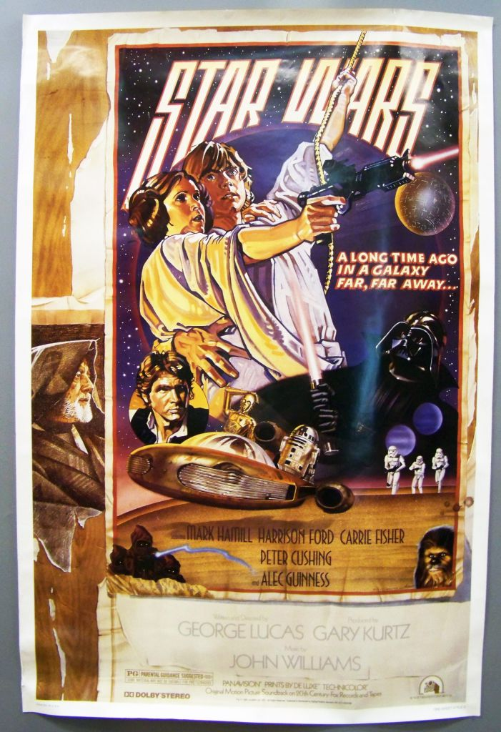 star wars 1977 a new hope movie poster one sheet style d 27 x41 fan club issue 1995