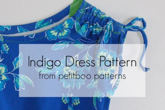Indigo dress pattern from petitboo patterns sewn by Lulu & Celeste
