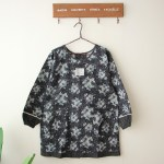 Clear-up Japanese vintage rose home long-sleeved apron pure cotton fabric home anti-wearing anti-fouling clothing