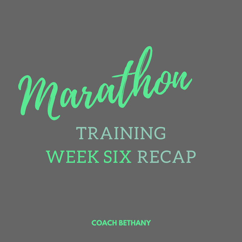 marathon training WEEK SIX