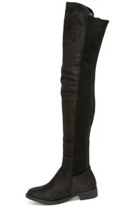 Have to Half It Black Over the Knee Boots
