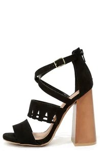 Get Down Tonight Black High Heel Sandals