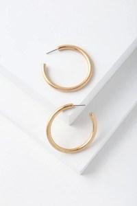 Chic Brushed Gold Hoop Earrings