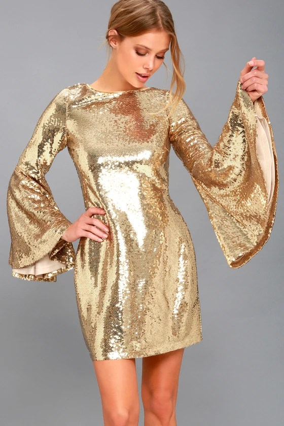 beaming belle gold sequin