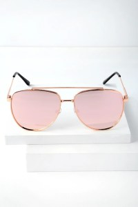 Rose Gold Aviator Sunglasses - Mirrored Aviator Sunglasses