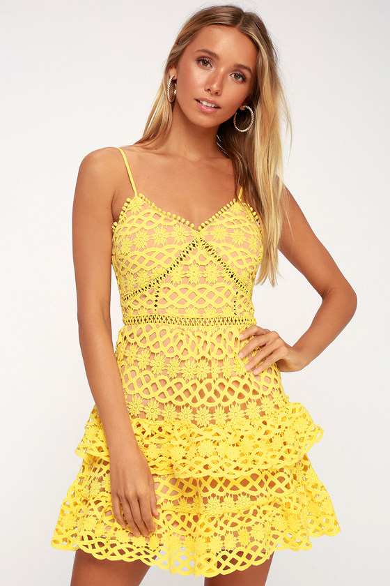 beauty and lace yellow