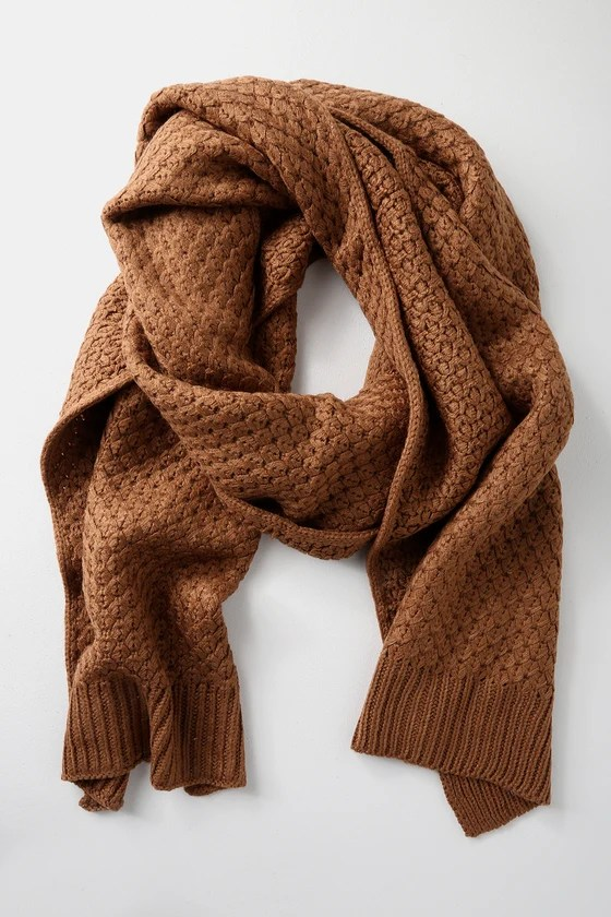 Cozy Brown Scarf