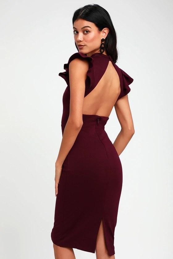 stylish splendor burgundy backless