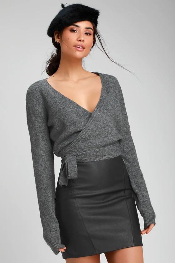 Wrap Sweater Top